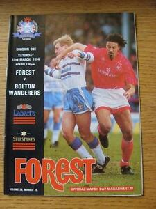 19-03-1994-Nottingham-Forest-v-Bolton-Wanderers-No-Apparent-Faults