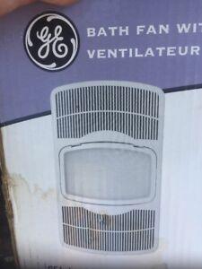 GE BATHROOM CEILING EXHAUST FAN Light Heater Air Vent Bath Room BFLH85L New