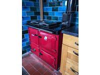 Rayburn Heatranger 355SFW - Claret Red - Solid Fuel (Wood, Coal etc)