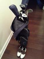 Woman golf set with shoes