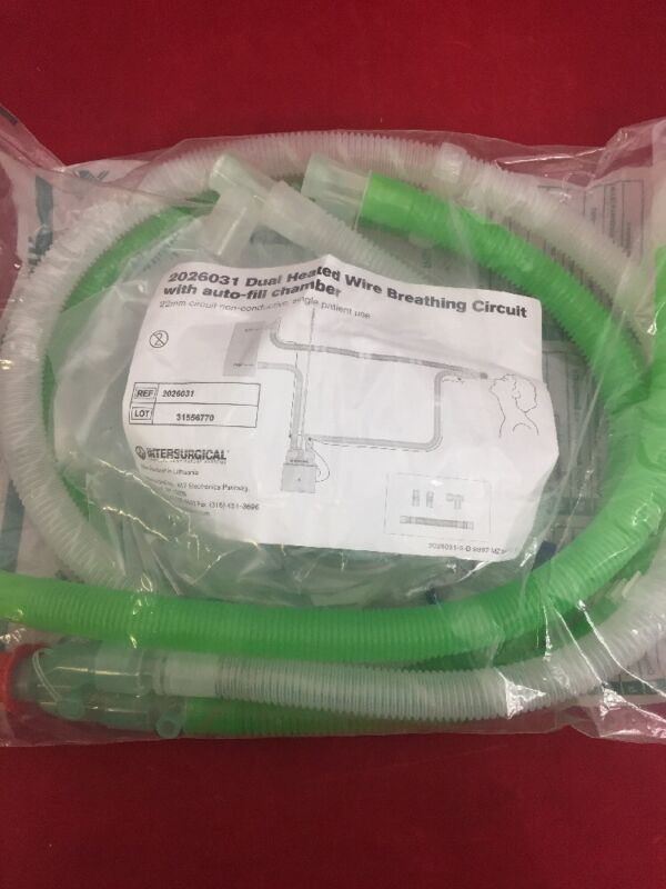 New Intersurgical Dual Heated Wire Breathing Circuit W/auto-fill Chamber 2026031