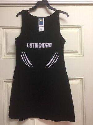 Catwoman Adult Small Black Tank Dress Rubie's Costume DC Comics  (Adult Catwoman Costume)