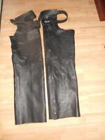 Motorcycle leather chaps XL