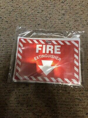 2 Pack 7x10 Vinyl Fire Extinguisher Sticker Peel Stick