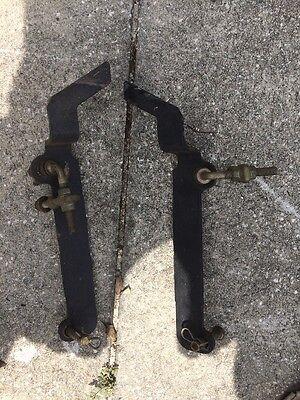 """John Deere Sabre 1438 Front Deck Hanger Bracket 38"""" And Pins OEM"""