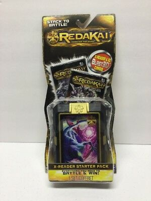 Redakai Conquer the Kairu X-Reader Starter Pack 22 Blast TCG 3D cards 1 set NEW
