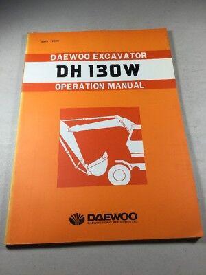 Daewoo Dh130w Excavator Operation Manual
