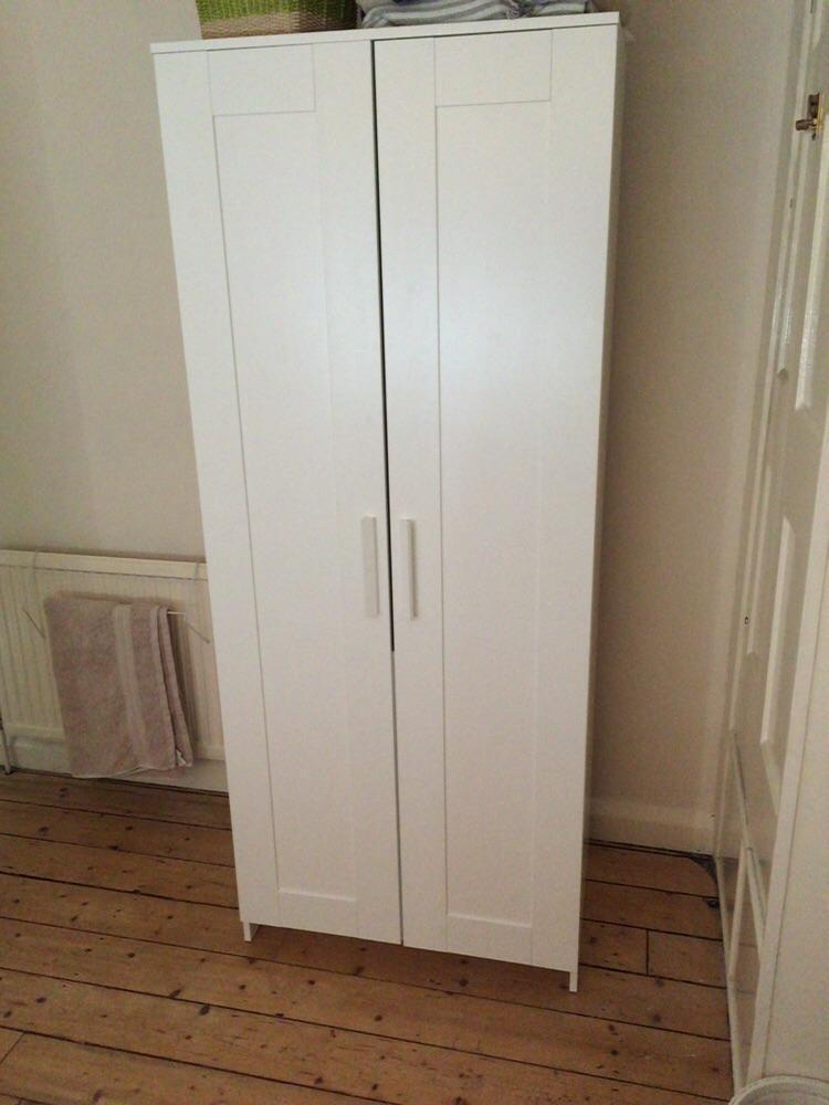 Classic White IKEA Wardrobe WITH Wicker Baskets