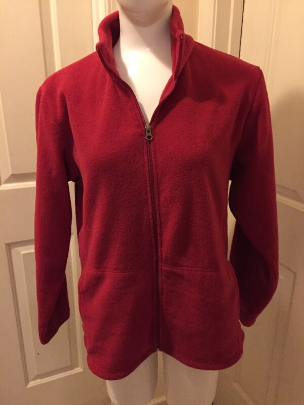 BASS PRO SHOP Full Zip Red Fleece Jacket_ Misses XL