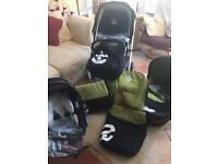 Oyster original Travel System. Pram stroller car seat with lots of extras in excellent condition