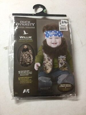NEW HALLOWEEN Baby Duck Dynasty Willie Redneck COSTUME INFANT 18-24 MONTHS