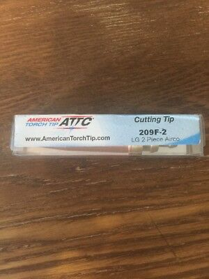 American Torch Cutting Tip 209f-2 Lg 2 Piece Airco.  F