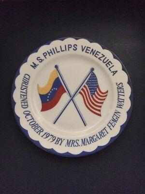 Phillips 66 VENEZUELA Oil Tanker Christening Commemorative Plate -October 1979