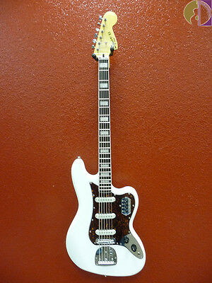 Squier Vintage Modified Bass VI Bass Guitar, Olympic White, Free Shipping USA