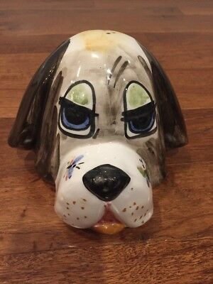 - Adorable Puppy Dog Ceramic Piggy Bank Painted