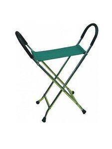 Pyramid Lightweight Strong Chair Walking Stick Folding Travel Seat Stool