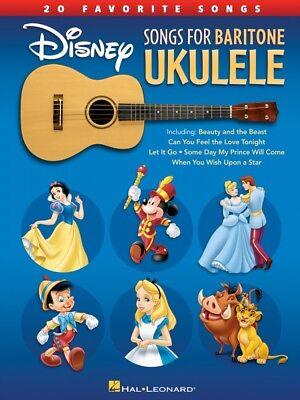 Disney Songs for Baritone Ukulele Sheet Music 20 Favorite Songs NEW 000214501