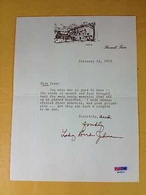 Lady Bird Johnson Signed Mint Autograph Letter Grade 9, PSA LOA
