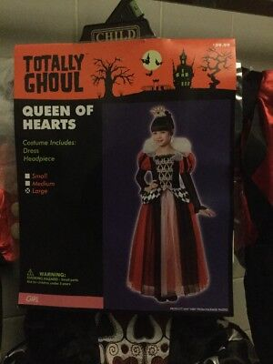 Totally Ghoul Girls Queen Of Hearts Size Large Halloween Costume NWT New