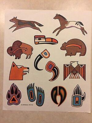 Vintage T-shirt Heat Transfer Native American Animal Art By Xit 1997