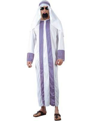 Egyptian Adult Arab Sheik Costume Arabian Fancy Dress Osama Bin Laden Outfit - Arabian Sheik Costume