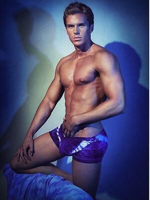 SALE DMK unisex Square Cut  boxer brief denim look tie dye underwear