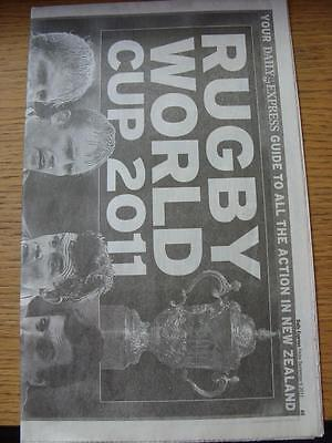 09/09/2011 Rugby World Cup 2011: Daily Express Guide To All The Action In New Ze