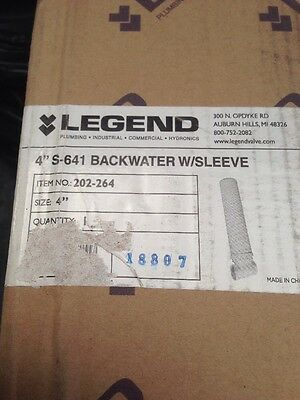 Legend 202-264 4 Solvent S-641 Backwater Valve With 16 Access