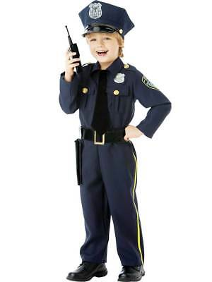 Child Police Officer Uniform US Cop Age 4-10 Boys Kids Fancy Dress - Childs Police Uniform