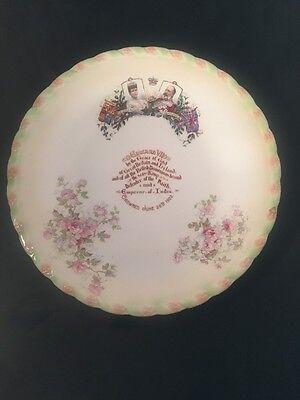 King Edward V11 Queen Alexandra Crowned June 1902 Royal Memorabilia Plate