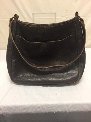 - Vintage DKNY Womens Brown Leather Purse Shoulder Bag Shopper Tote