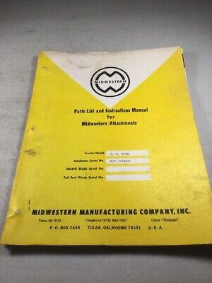 Midwestern Sideboom For John Deere Jd450-c Dozer Parts Instruction Manual