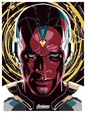 Vision: Age of Ultron (Dark Inker) SOLD OUT Ltd Metallic Ink Print #50/50 Mondo