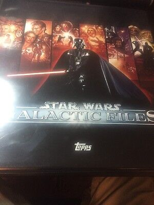 STAR WARS GALACTIC FILES SERIES 1 AND 2 COMPLETE MASTER SETS WITH BINDERS