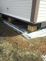 Mobile Home Servicing.  Province wide  (22)