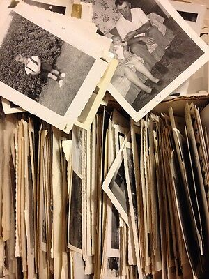 100 Old Photos Vintage Photographs Snapshots Black White antique people Huge Lot