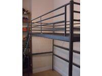 Ikea Svarta metal high rise cabin bed