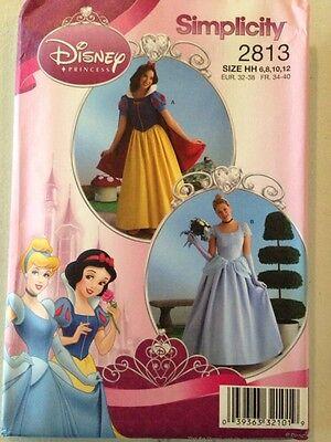 Cinderella Halloween Costume Pattern (Simplicity Pattern 2813 Disney Princess Costume Snow White Cinderella)