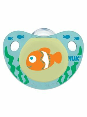 NUK Cute as a Button Sea Creatures Pacifier in Assorted Colors and Styles,... - Colorful Sea Creatures