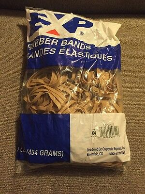 New 1 Lb Bag Size 64 Rubber Bands 3 12 X 14 Rubberbands Exp