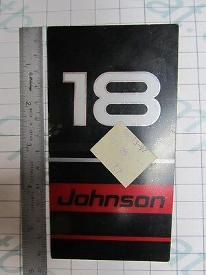 341767 OMC Johnson 18 HP Rear Frame Plate Decal 1997, Smoke