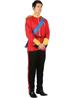 Adult Royal Prince Charming Costume Mens William Harry Panto Fancy Dress New