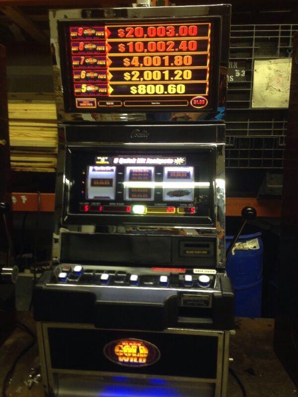 Bally Alpha Black Gold Wild Quick Hit  SLOT MACHINE With Free Play Kit