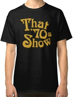 That 70s Show Men's Black Tees Shirt - 70s Clothes Mens