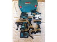 Makita 5 Piece 18v Cordless Tool Kit