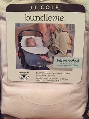 Bundleme Baby Infant Pink Carseat To Stroller Cover NIP Plush Faux Shearling