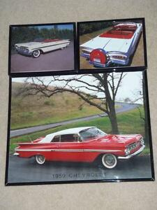 Framed prints FINS 1959 Biscayne 59 Chevy Impala & Pink Cadillac