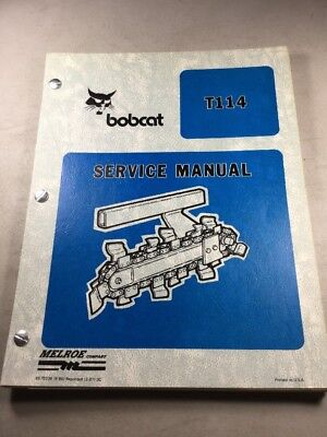 Bobcat T114 Trencher Service Manual