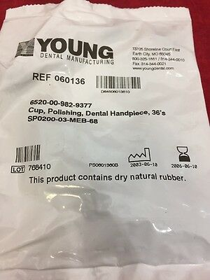 Pack Of 36 Young Dental Handpeice Polishing Cups 060136 See Listing