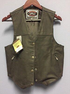 River Road Women's Granite Leather Vest - Matte Black Size 2XL - 09/V/2560L-W2XL River Road Matte